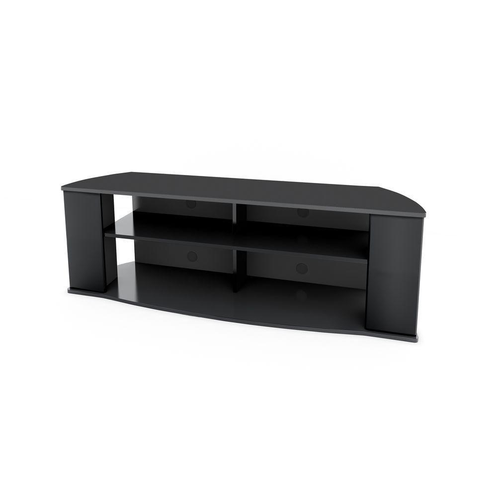 meuble pour televiseur de 60 po x 19 75 po x 15 75 po essentials en noir