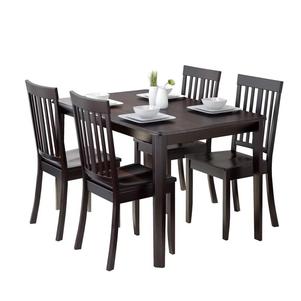 ensemble de salle a manger 5p avec chaises couleur cappuccino