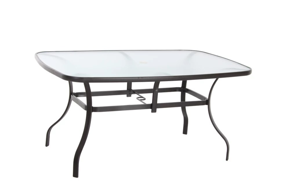 60 inch x 38 inch patio dining table