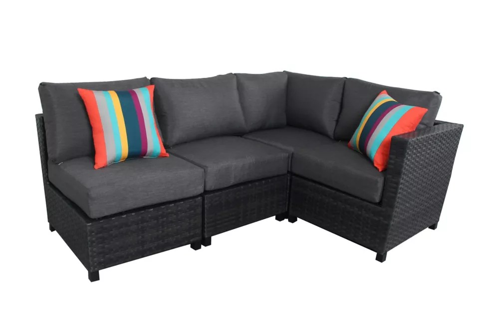 grand prince 4 piece woven patio sectional