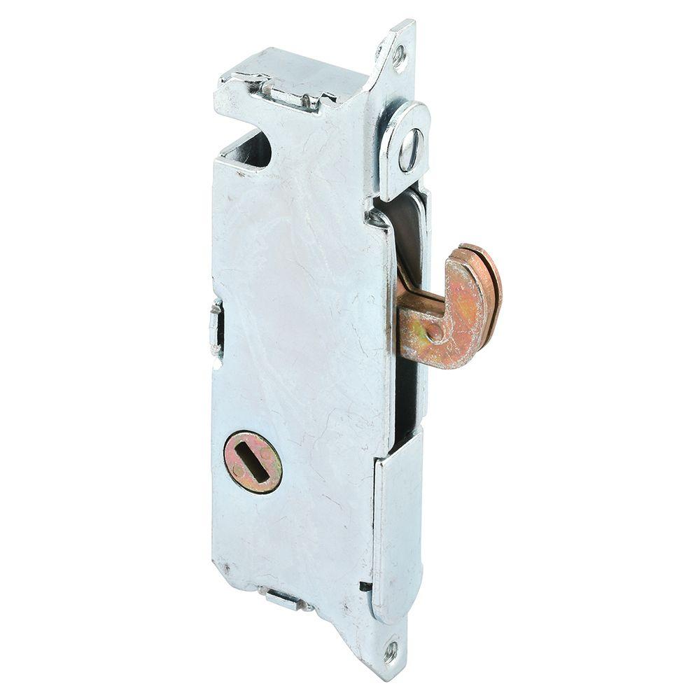 mortise lock 3 11 16 in steel 45 degree keyway round faceplate spring loaded
