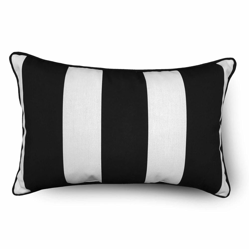 hampton bay outdoor lumbar pillow in
