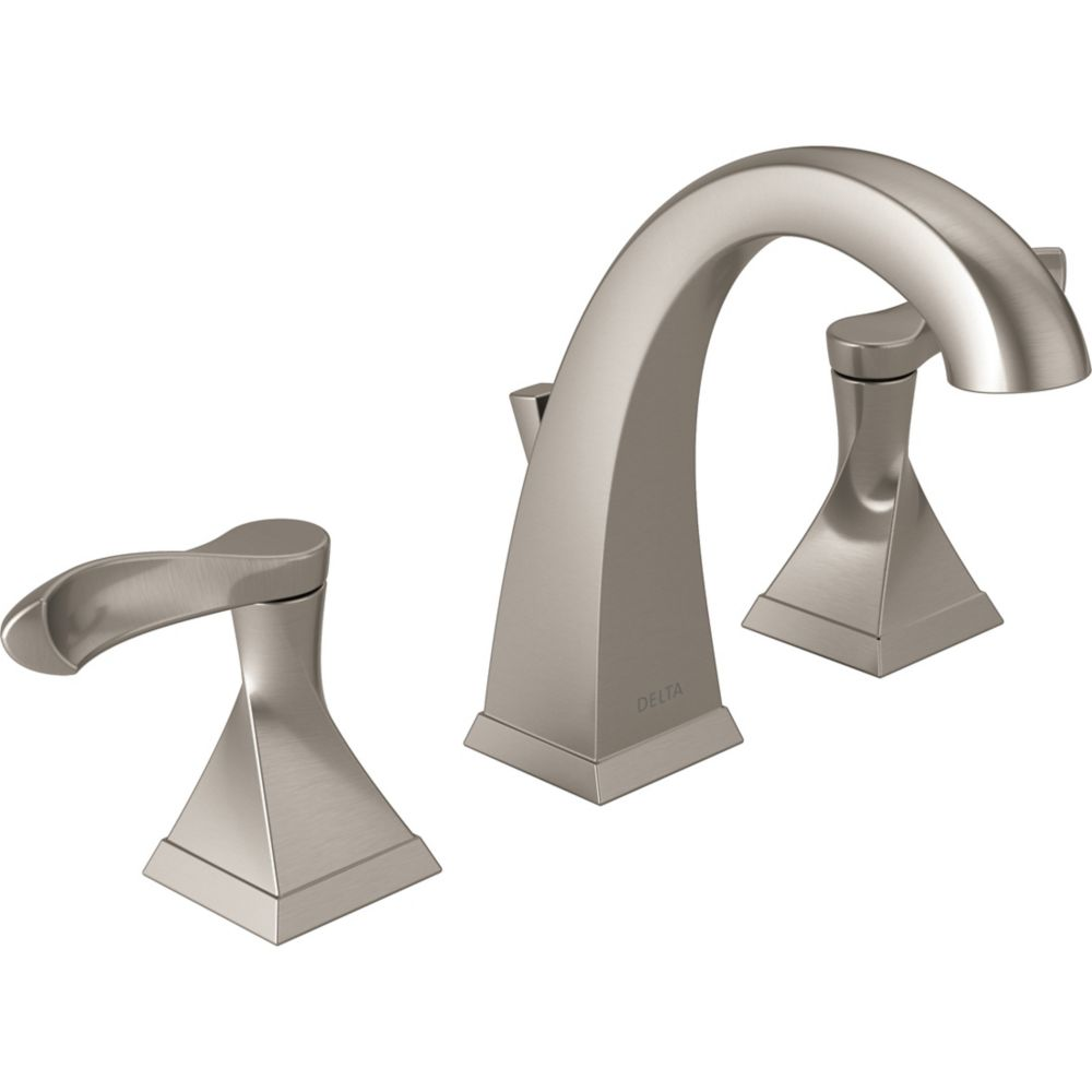 everly widespread 8 inch 2 handle high arc bathroom faucet in brushed nickel with lever handles