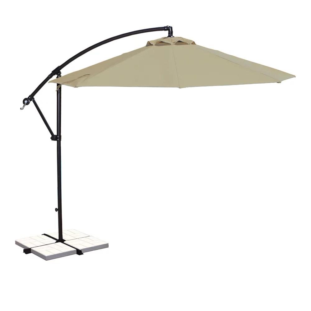 santiago 10 ft octagonal cantilever sunbrella acrylic patio umbrella in beige