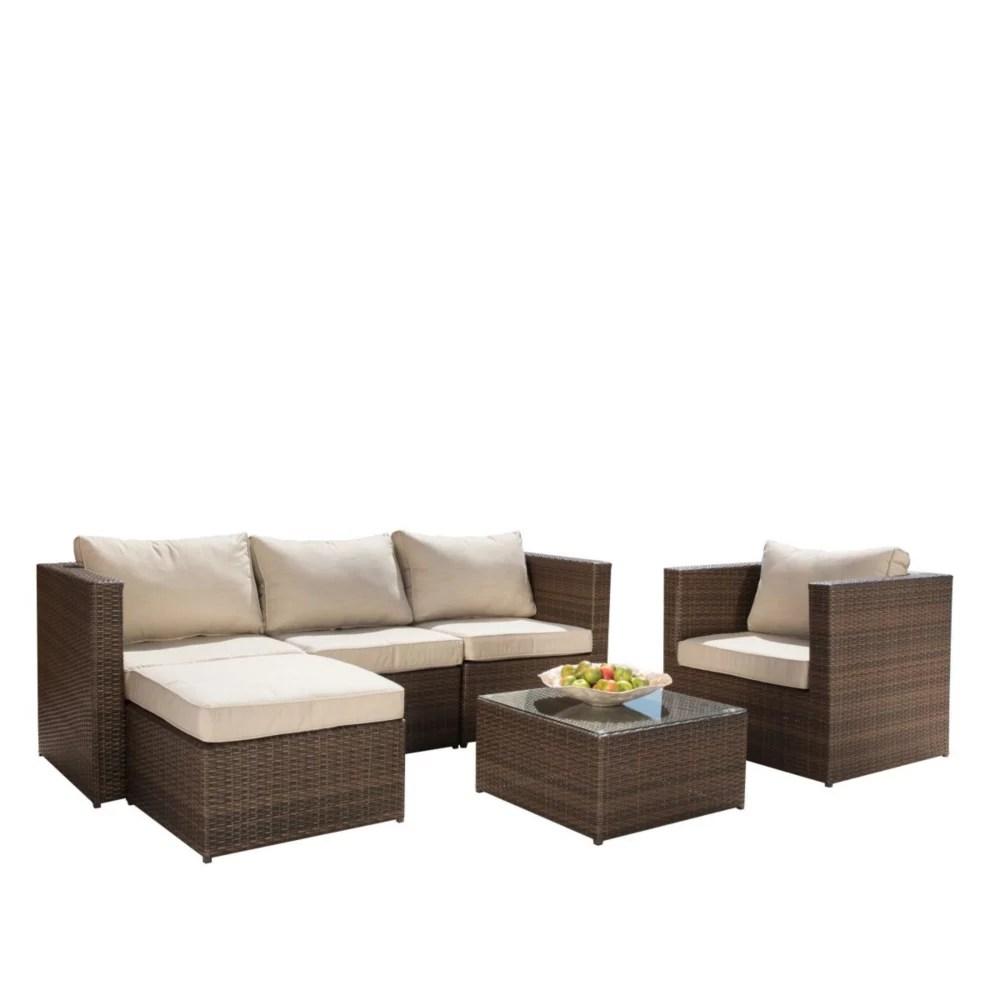 milan 6 piece patio seating set