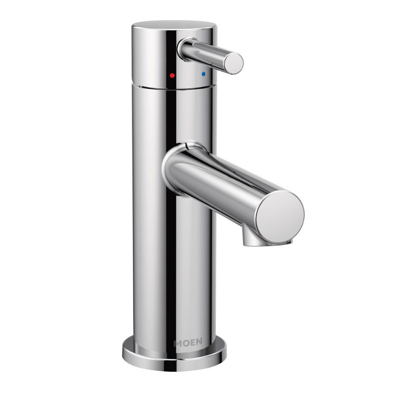 align single hole single handle bathroom faucet in chrome
