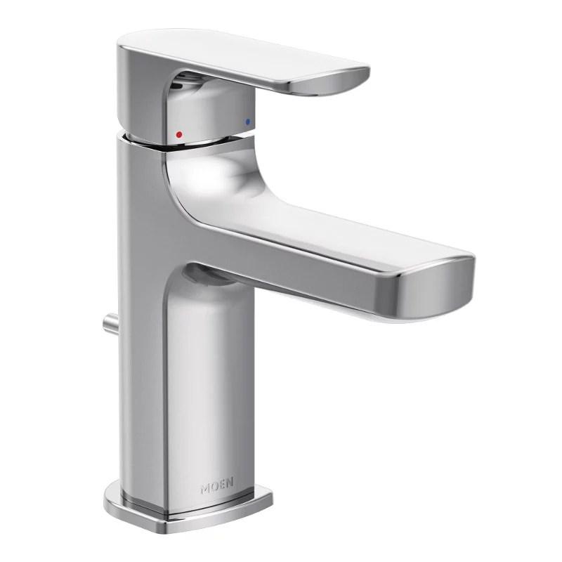 rizon single hole single handle bathroom faucet in chrome
