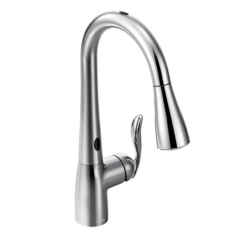 arbor single handle pull down sprayer touchless kitchen faucet with motionsense in chrome