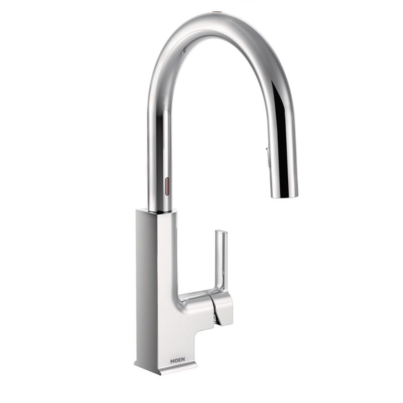 sto single handle pull down sprayer touchless kitchen faucet with motionsense in chrome