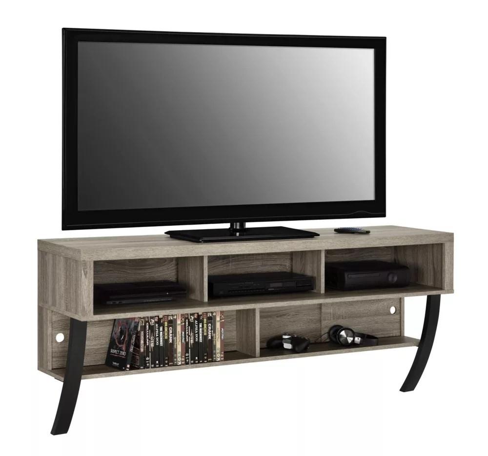 meuble pour tv 60 asher avec support mural