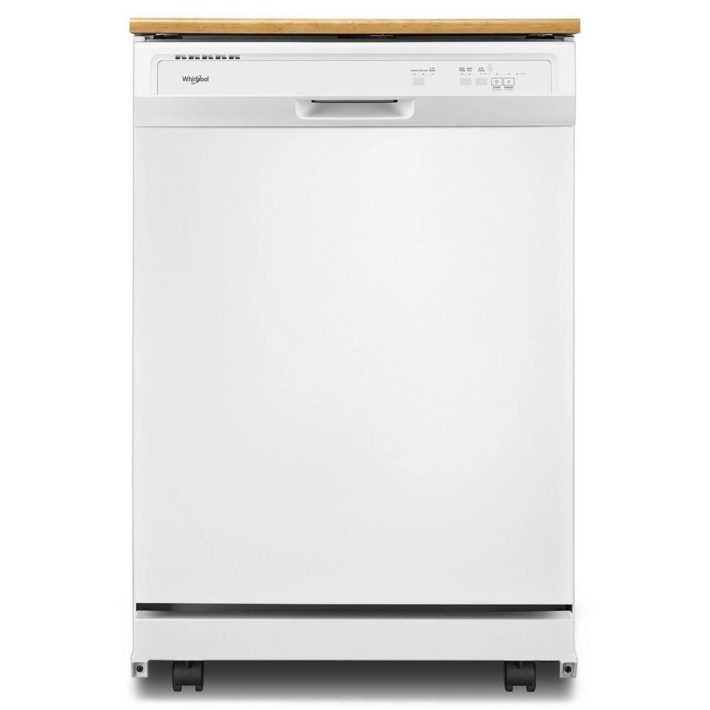 lave vaisselle portatif a commande frontale en blanc 64 dba