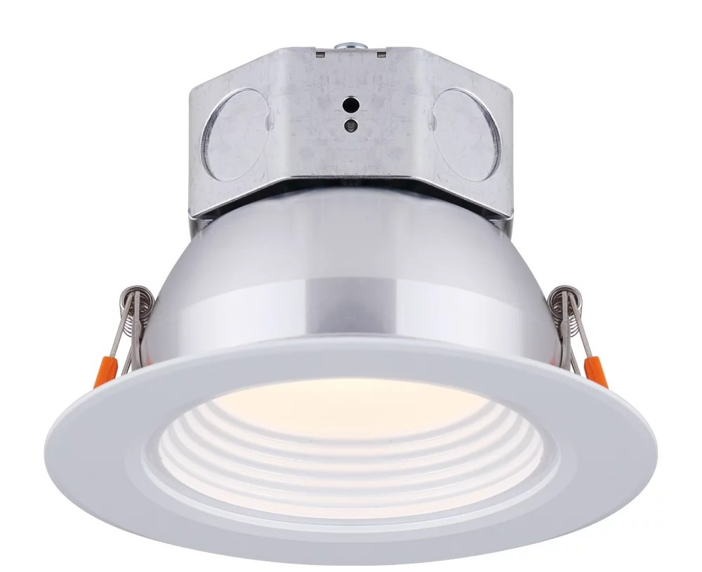 4 inch led white stepped baffle recessed round downlight energy star