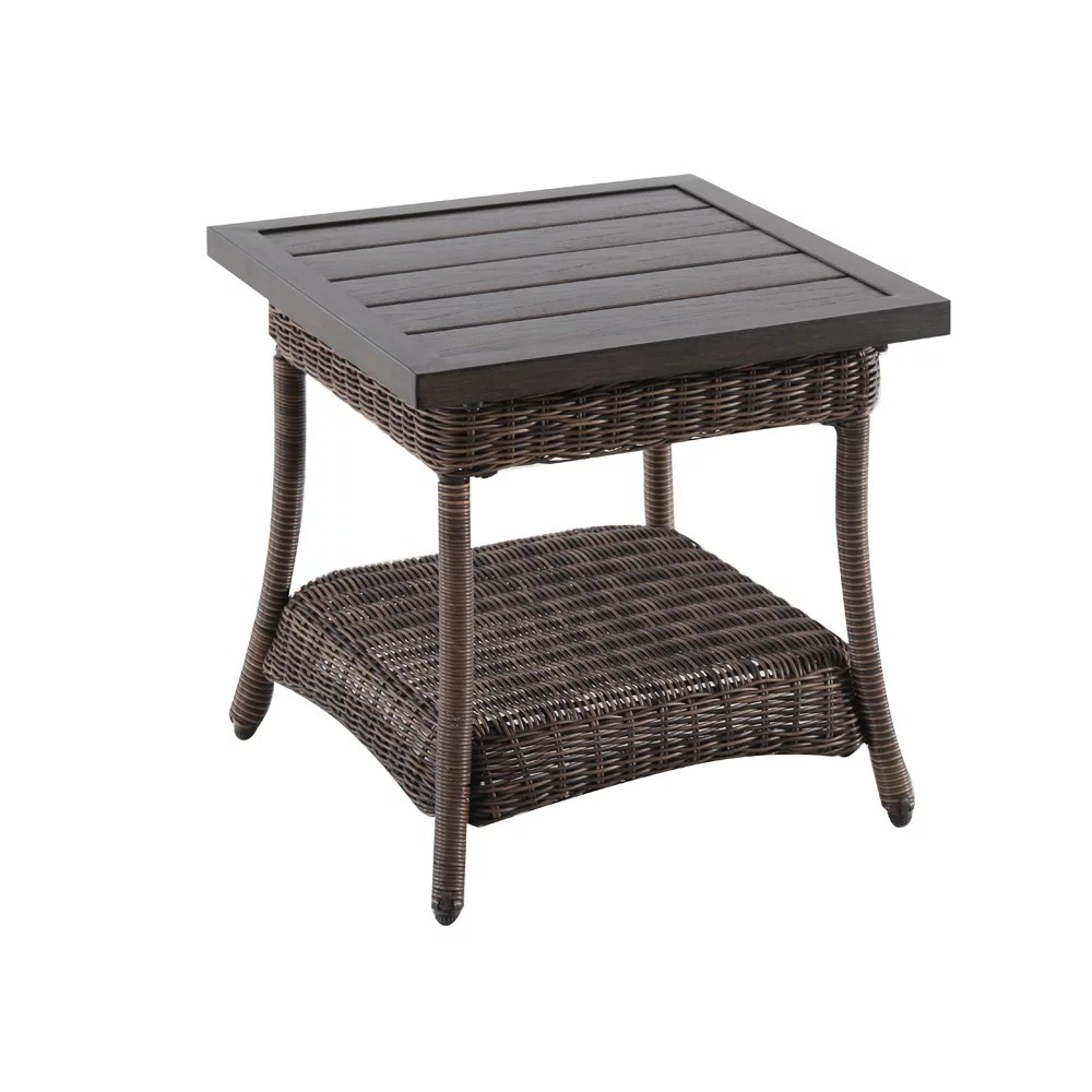 beacon park all weather wicker patio accent table