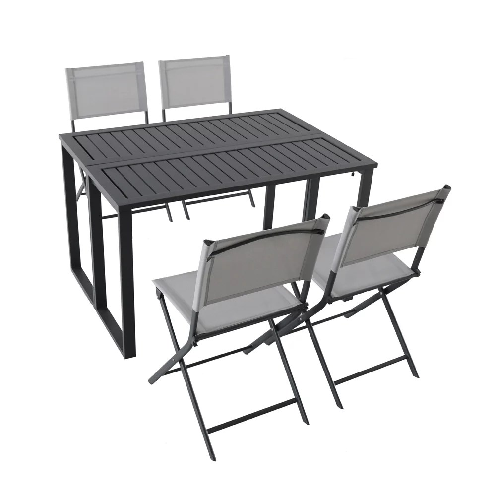 ocean springs 5 piece folding patio dining set