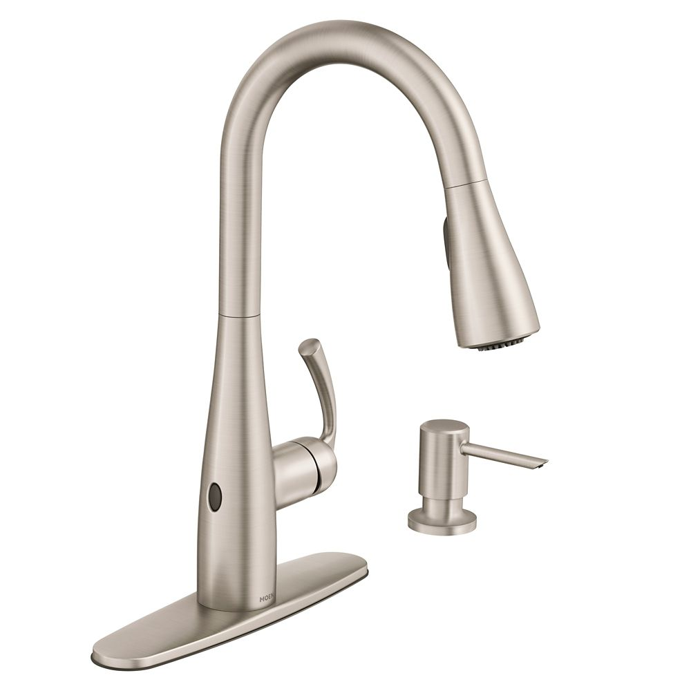 essie touchless 1 handle pull down sprayer kitchen faucet with motionsense wave in spot resist stainless