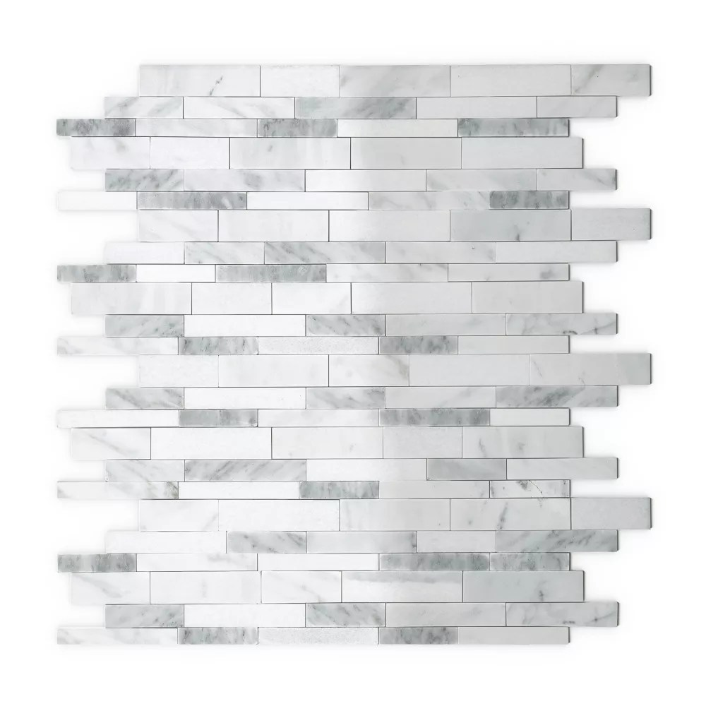gray agate 11 65 inch x 11 34 inch marble self adhesive wall mosaic tile
