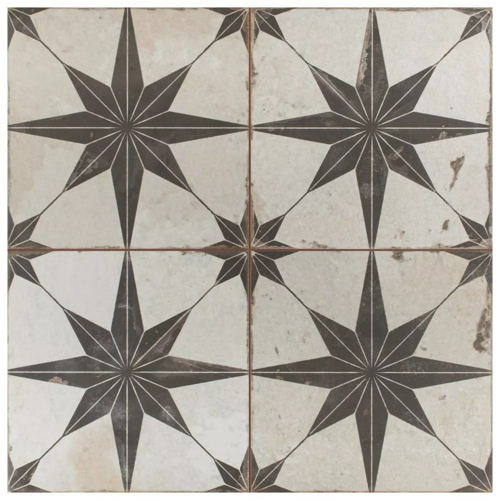 kings star nero 17 5 8 inch x 17 5 8 inch ceramic floor and wall tile 11 02 sq ft case
