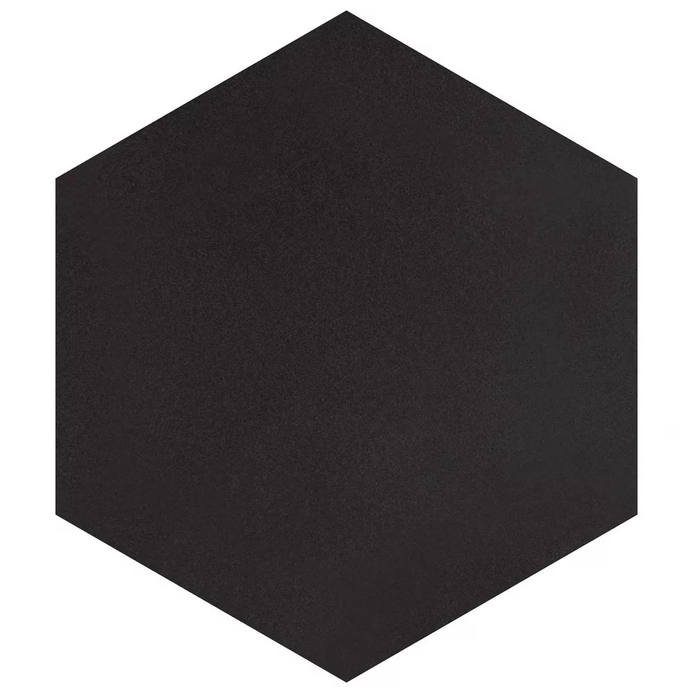 textile hex black 8 5 8 inch x 9 7 8 inch porcelain floor and wall tile 11 56 sq ft case