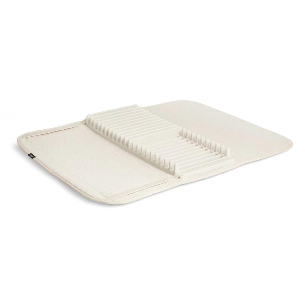 udry dish drying rack and microfiber dish mat