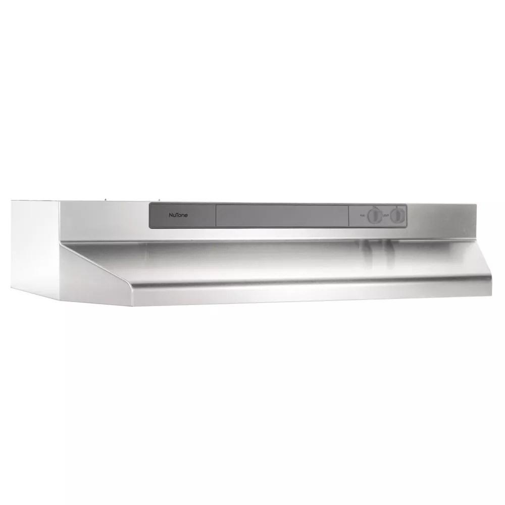 30 inch under cabinet range hood 260 max blower cfm stainless steel