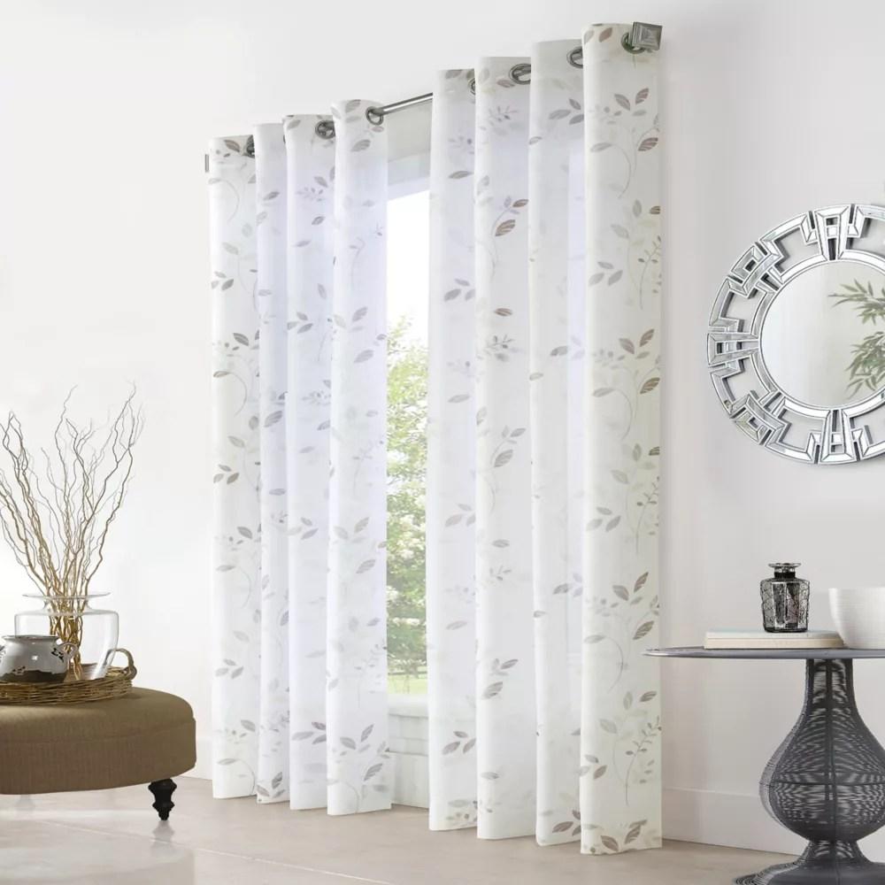 elgin sheer grommet curtain panel 52 w x 84 l in white