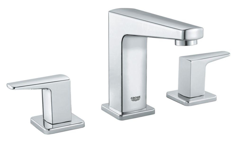 robinet de salle de bains a deux poignees de tallinn en chrome etoile
