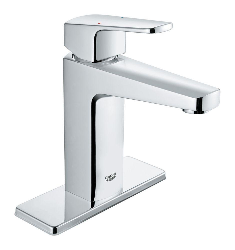 robinet de salle de bains a poignee unique de tallinn 4 pouces centerset en chrome starlight