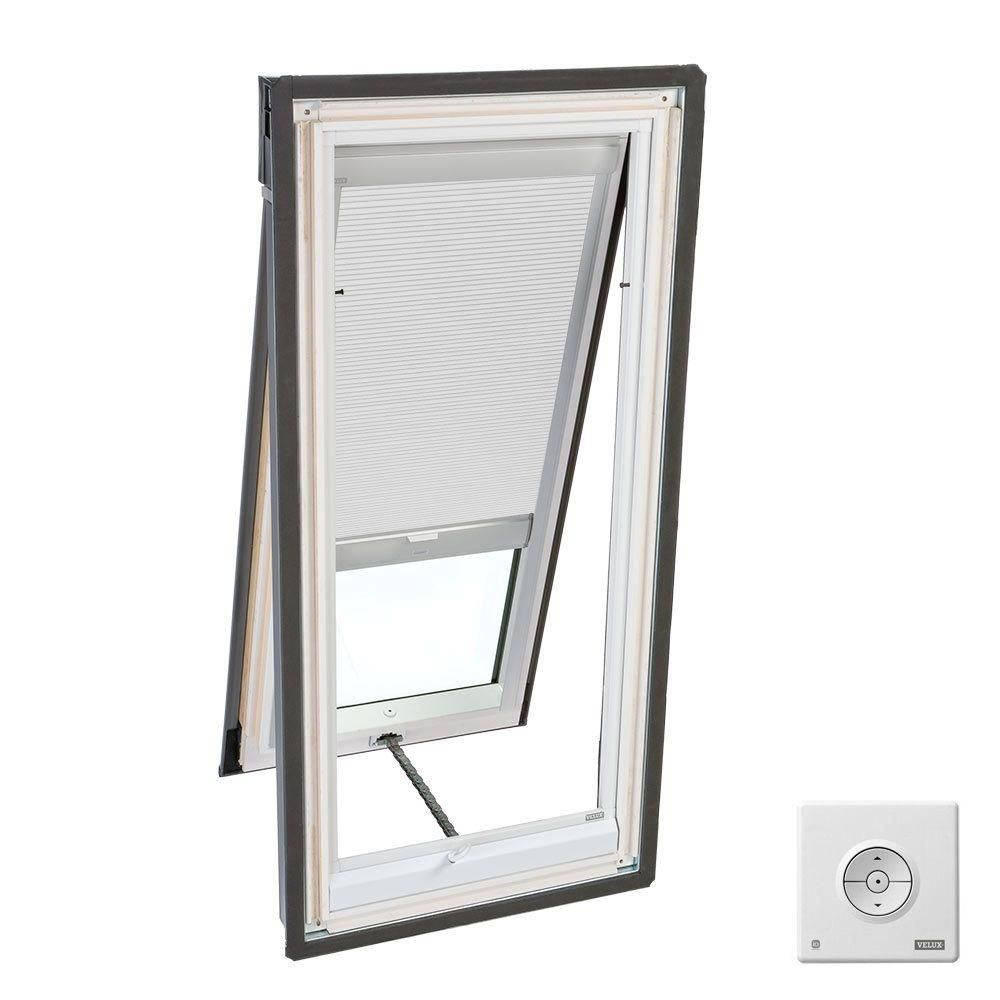 white solar powered room darkening blind double pleated for vs vse vss s06 size