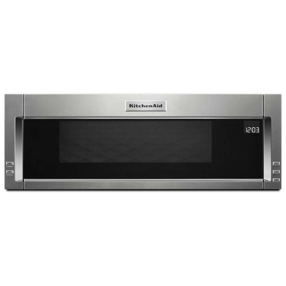 1 1 cu ft low profile over the range microwave in stainless steel with sensor cooking