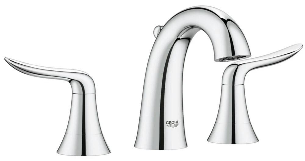 agira 2 handel wideset bathroom faucet with silkmove metal pop u in starlight chrome