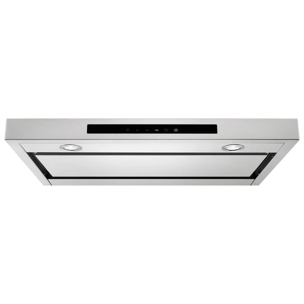 30 inch low profile under cabinet range hood in stainless steel