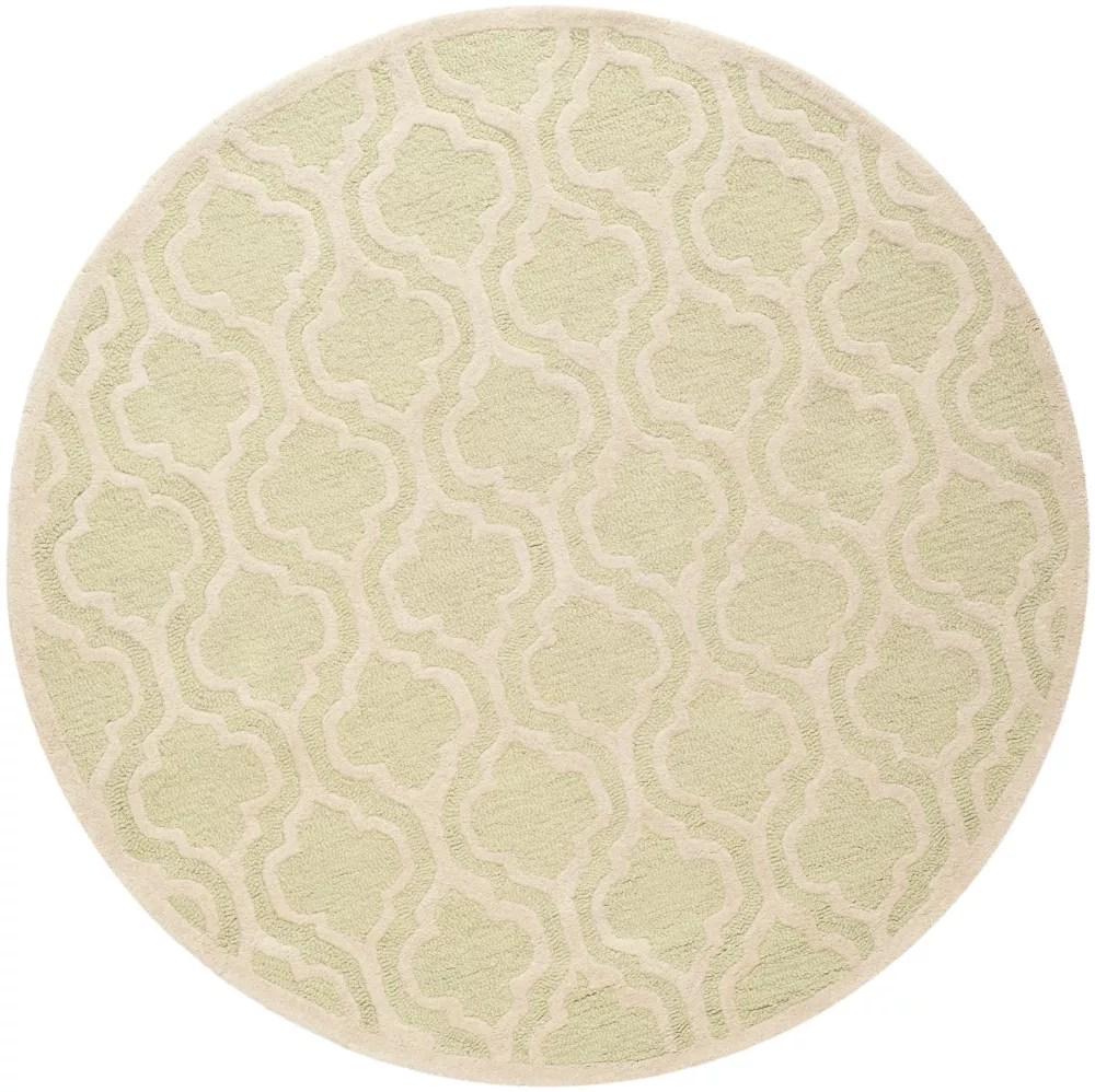 tapis d interieur rond 6 pi x 6 pi cambridge brenton vert clair ivoire