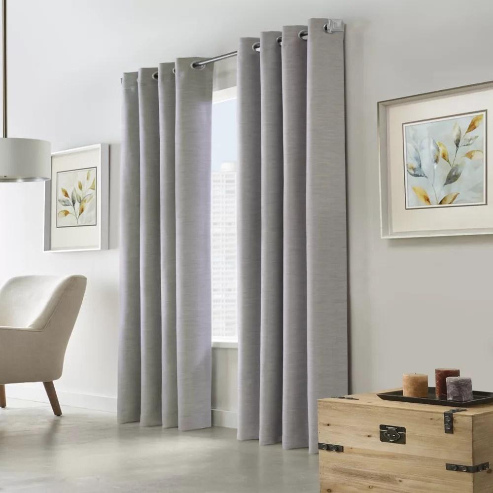blake room darkening grommet curtain panel 52 w x 108 l in silver