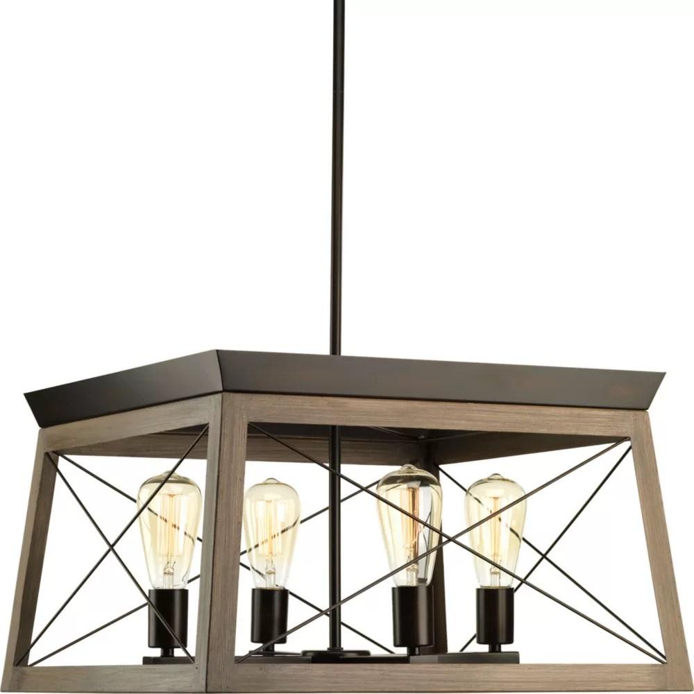 briarwood collection 4 light antique bronze chandelier