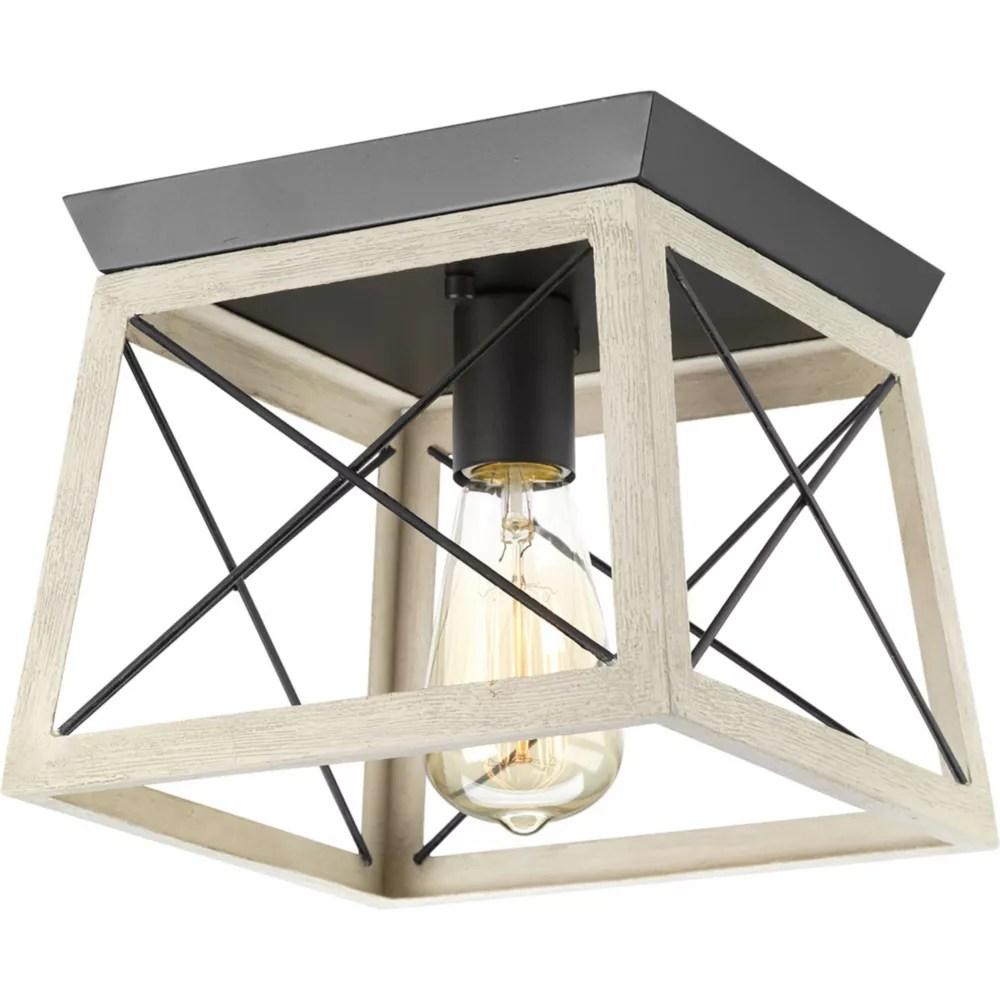 briarwood collection 1 light graphite flushmount light fixture