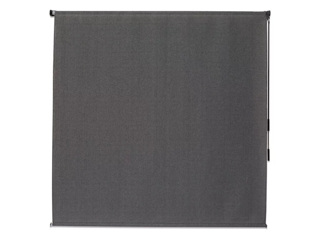 6 ft x8 ft outdoor crank roller shade with 95 uv protection in pewter