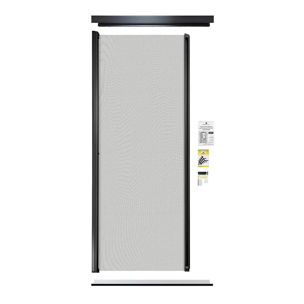 retractable screen single entrance door black
