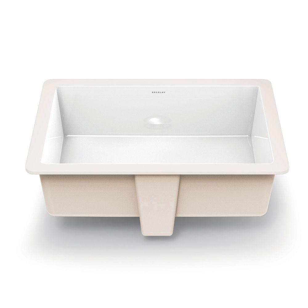 lilli undermount rectangular bathroom sink white