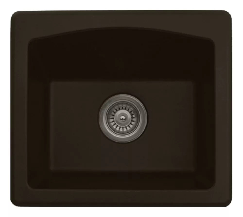 quartz 18 inch bar prep sink in brown