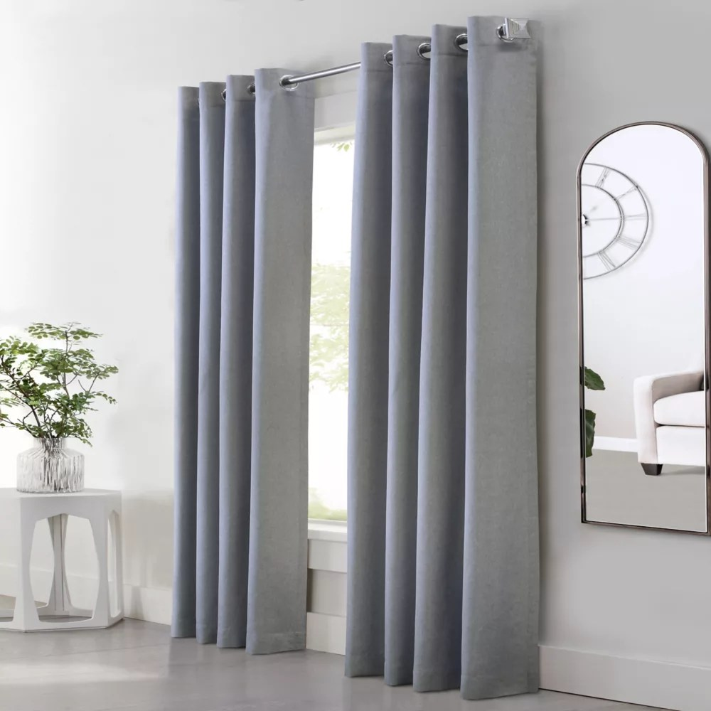 margaret light filtering grommet curtain panel 52 inch w x 84 inch l in grey
