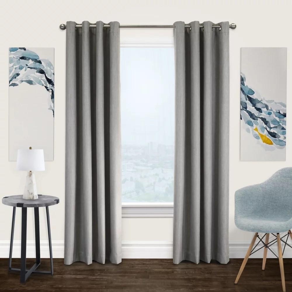 newberry total blackout grommet curtain panel 52 w x 84 l in greige