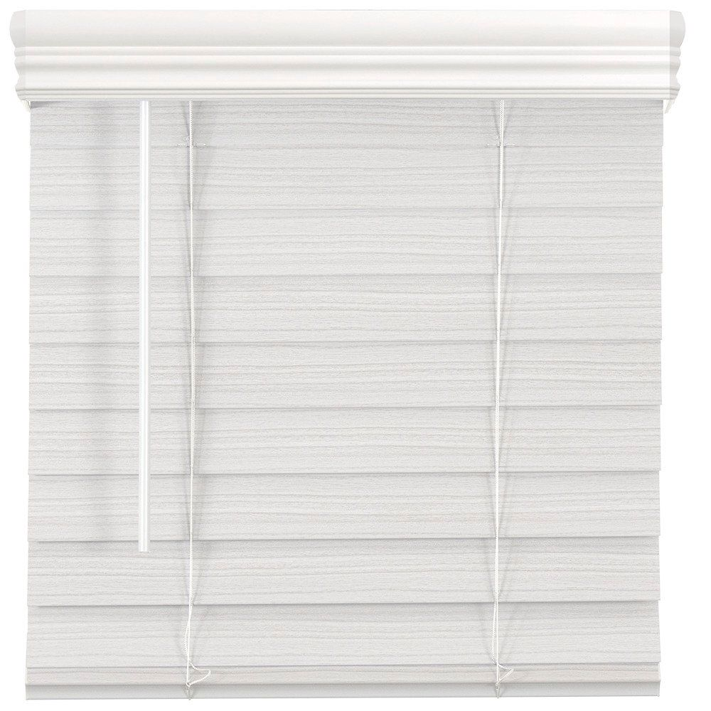 22 inch w x 48 inch l 2 5 inch cordless premium faux wood blinds in white