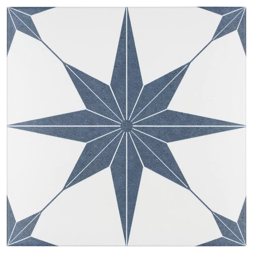 stella azul 9 3 4 inch x 9 3 4 inch porcelain floor and wall tile 11 11 sq ft case