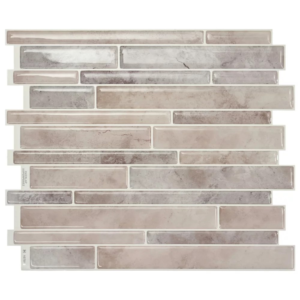 milano todi 11 55 in w x 9 63 in h peel and stick decorative mosaic wall tile backsplash 4 pack