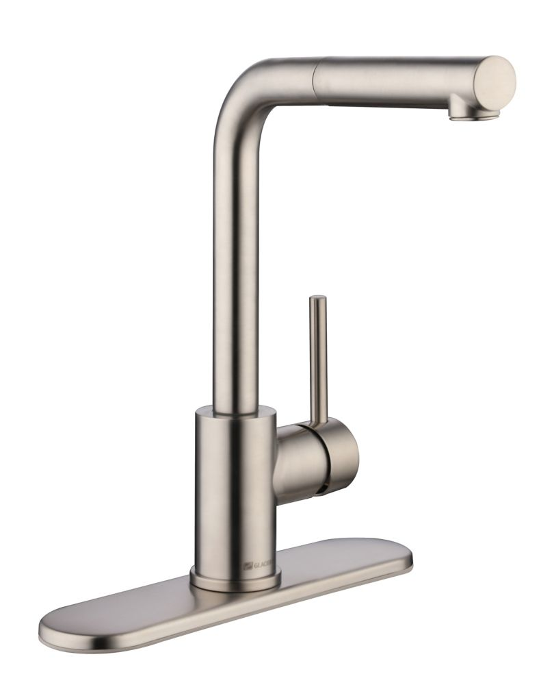 menlo single handle pull out sprayer kitchen faucet in stainless steel