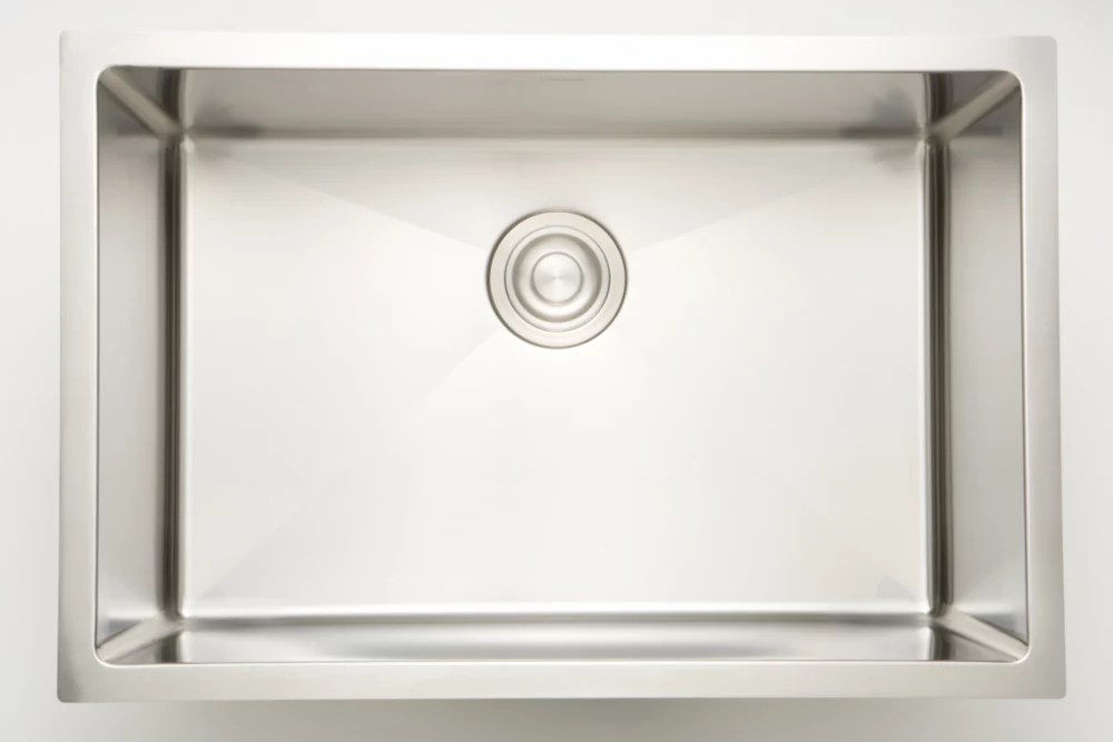 27 inch w single bowl undermount kitchen sink for a wall mount drilling with 2 81 cu ft