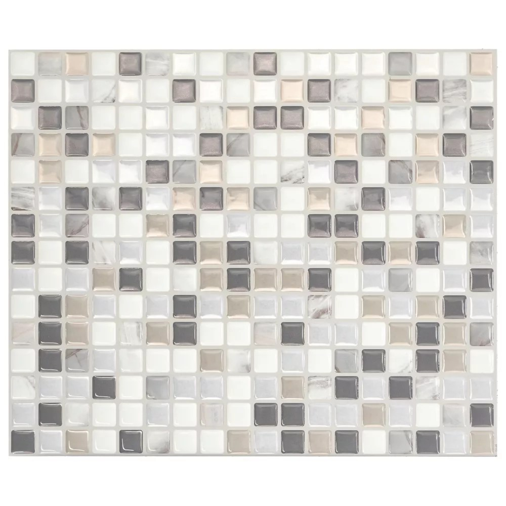 minimo noche 11 55 inch w x 9 64 inch h multi peel and stick decorative wall tile 4 pack