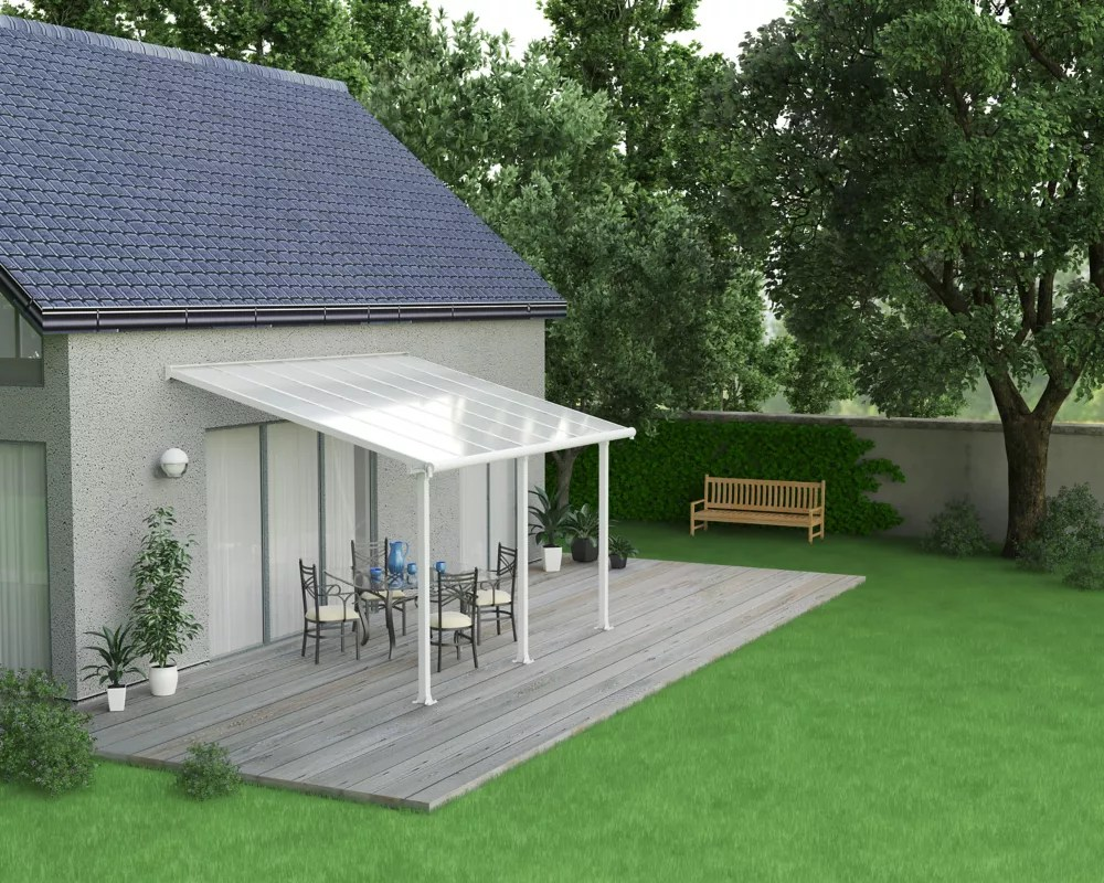 olympia patio cover system 10 ft x 14 ft white