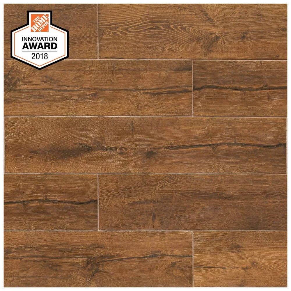 revere wood 8 inch x 40 inch glazed porcelain floor and wall tile 2 15 sq ft piece