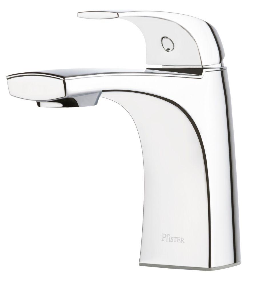 karci single hole single handle bathroom faucet with pop up drain in polished chrome